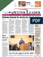 Dexter Leader Front Page for Nov. 17