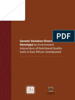Genetic Variation, Diversity and Genotype by Environment Interactions of Nutritional Quality traits in East African Sweetpotato