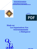 Etude sur les organisations non gouvernementales à Madagascar - 2009 (INSTAT - 2009)