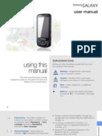 Samsung Galaxy i7500 Manual