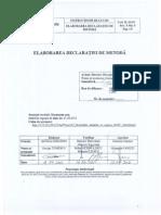 2011 CGL RO Anexa 1 Elaborarea Declaratiei de Metoda