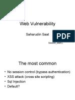 Web Vulnerability