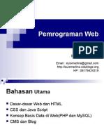Silabi Mata Kuliah Pemrograman Web