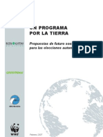 Un programa por la tierra Elecciones autonomicas