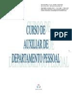 Apostila Oficial Do Curso de Auxiliar Em Depart Amen To Pessoal - Times