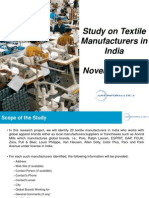 Study on Textile Manufacturers in India, 16 November 2011