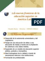 LasNuevasFronterasdelaEducacionSuperiorenAmericaLatina