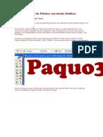 66ed604e6f Efecto de Texto de Plástico Con Borde Metálico