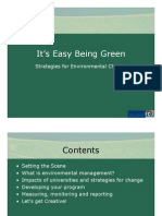 Its Easy Being Green Ppt