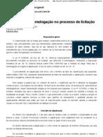 Adjudicação e homologação no processo de licitação - Revista Jus Navigandi