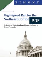Reason Foundation - Amtrak NEC Testimony