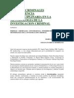 Perfiles Criminales Convergencia Interdisciplinaria en La Metodologia de La Investigacion Criminal