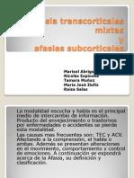 Afasia Transcorticales Mixtas y Subcorticales
