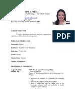 CV of Samantha Pa Jot A