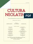 Cultura Neolatina n. 1-2 2011 Sommario, recensioni, abstracts