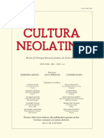 Cultura Neolatina n. 1-2|2011 Sommario, recensioni, abstracts