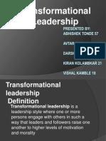 Transformational Leader Ppt