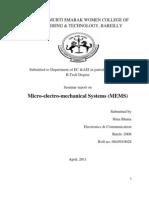 MEMS :- An Overview