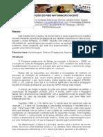 Contribuições do PIBID para a formação docente.
