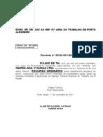 RO - Fulano de Tal x Centro Azul - Aline de Oliveira Coitinho