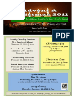Advent and Christmas 2011 Flyer