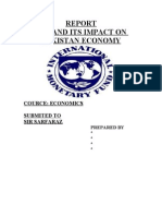Final Report on Imf and Its Impact on Pakistan Economy