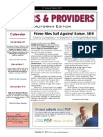 Payers & Providers California Edition – Issue of November 17, 2011