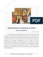 Presentación de la Santísima Virgen. 21 de Noviembre