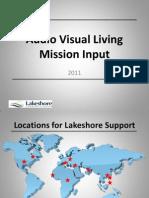 Audio Visual Mission Input Presentation