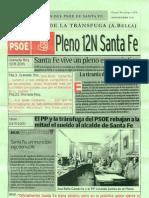 Panfleto Psoe 17-11-2011 Santa Fe