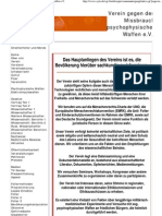 Atuelle Webseite Des Vereins - Verein Gegen Den Missbrauch Psychophysischer Waffen e.V