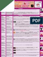 Programación Cultural Diciembre 2011