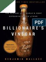The Billionaire's Vinegar by Benjamin Wallace - Excerpt