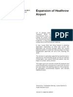 Expansion of Heathrow Airport