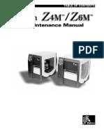 Zebra Printer Z4M,Z6M Parts & Service