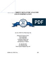 Motor Current Signature Analysis and Interpretation
