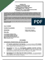 La Mirada City Council Agenda