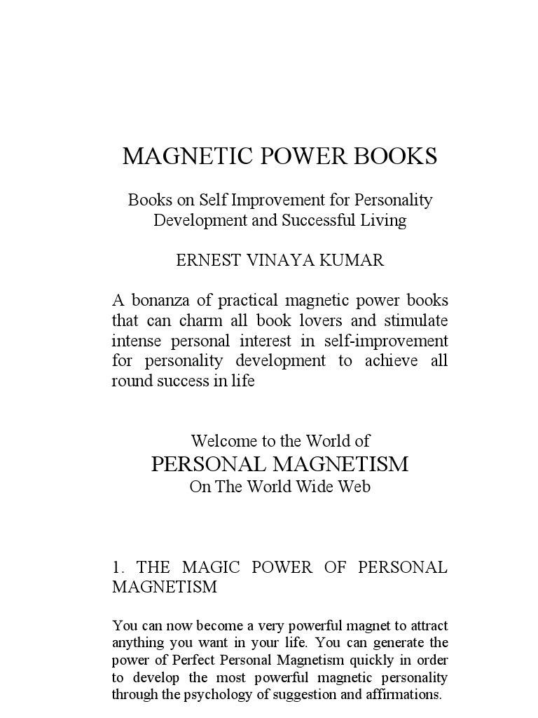 Magnetic power books magic paranormal happiness self help fandeluxe Gallery