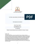 Eco 5011 Managerial Eco Handouts