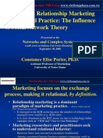 Porter - Advances in Relationship Marketing Thought and Practice the Influence of Social Network Theory