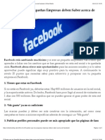 25 Puntos que las Pequeñas Empresas deben Saber acerca de Facebook | Víctor Martín