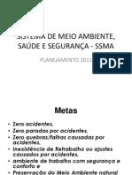 SISTEMA DE MEIO AMBIENTE, SAÚDE E SEGURANÇA