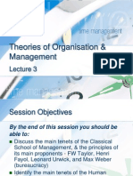 Theories of ion & Management-OB Lecture 3