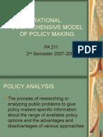 Rational Comprehensive Model