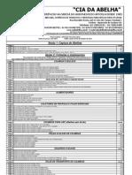 Tabela CIA Das Abelhas