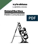 Barthes, Roland - Lo Obvio y Lo Obtuso (CV)e