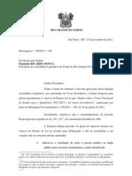 Mensagem nº 026 - Proposta para alterar parcialmente os Anexos do PPA para  2012-2015