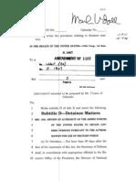 Udall Amendment to National Defense Authorization Act