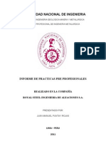 Informe Royal Steel-Puntay Rojas