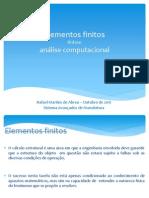 Elementos finitos - ênfase análise computacional - Rafael Martins de Abreu